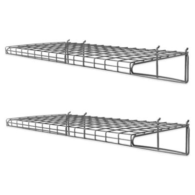 Proslat 2-Pack Metal Wire Shelf in Silver