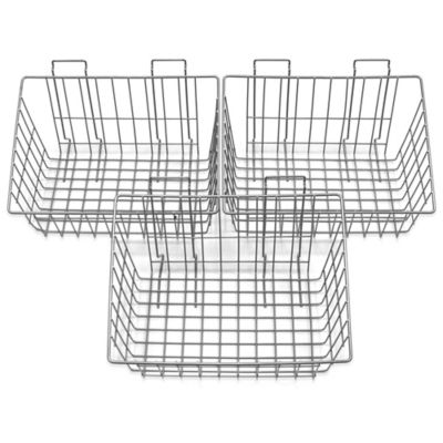 Proslat 3-Pack Heavy-Duty Wire Basket in Silver
