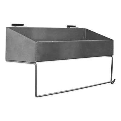 Proslat 16-Inch Paper Towel Holder Shelf in Silver