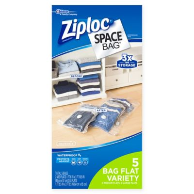 Ziploc® Space Bag® 5-Piece Flat Combo Set