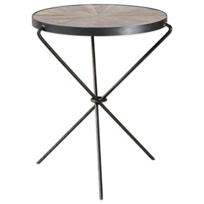 Uttermost Leveni Wood Accent Table in Black