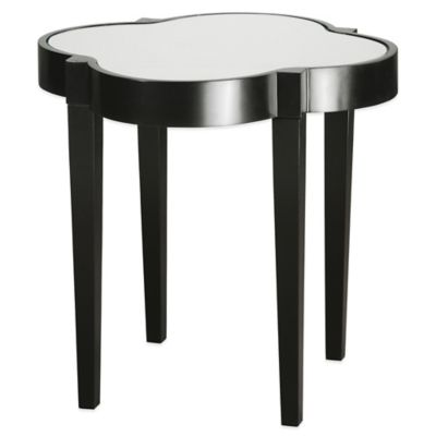 Uttermost Sancia Quatrefoil Accent Table in Black