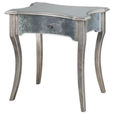 Uttermost Jovannie Mirrored Accent Table in Silver