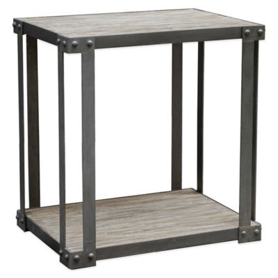 Uttermost Makoto Industrial Side Table in Grey