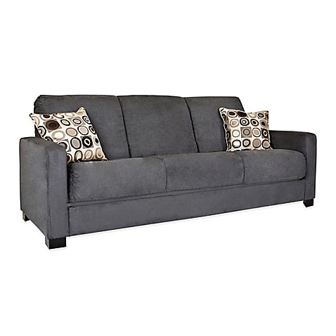 Handy Living Convert A Couch : Handy Living Convert-a-Couch® in Grey Microfiber - www ...