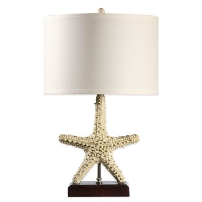 Starfish Table Lamp with Medium Drum Shade in Sea Salt