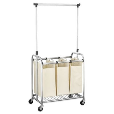 Household Essentials® 3-Bag Laundry Sorter with Clothes Rack