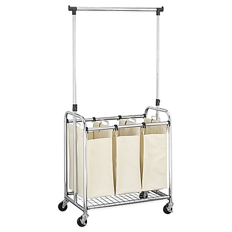 Household Essentials 174 3 Bag Laundry Sorter With Clothes