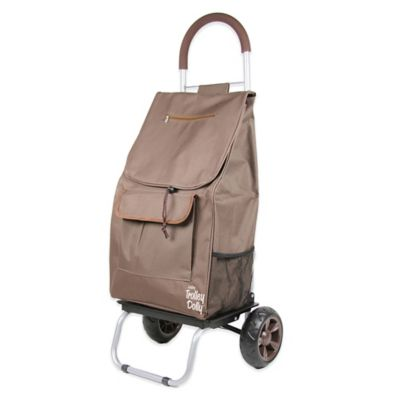 Folding Trolley Dolly in Brown