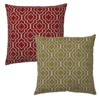 Donetta Floor Pillow in Red