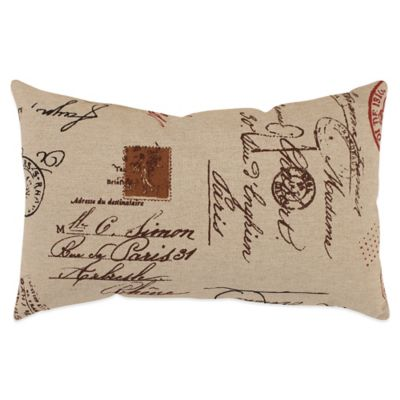 French Postale Oblong Throw Pillow