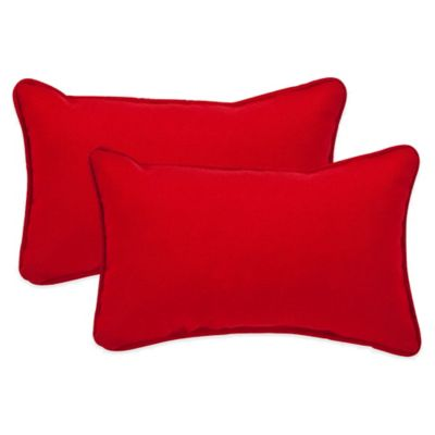 Pompeii Red Oblong Throw Pillow (Set of 2)
