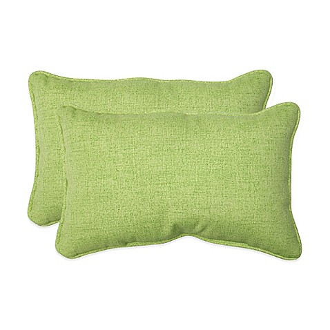 Throw Pillows Linen : Buy Baja Lime Green Oblong Throw Pillows (Set of 2) from Bed Bath & Beyond