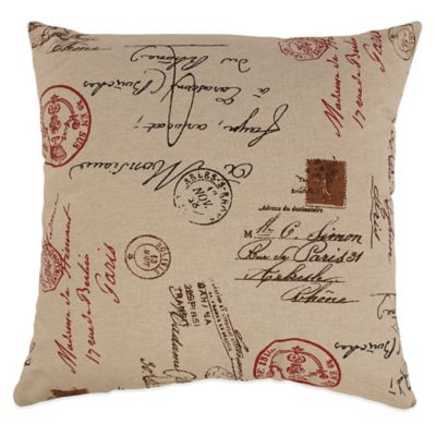 French Postale Floor Pillow