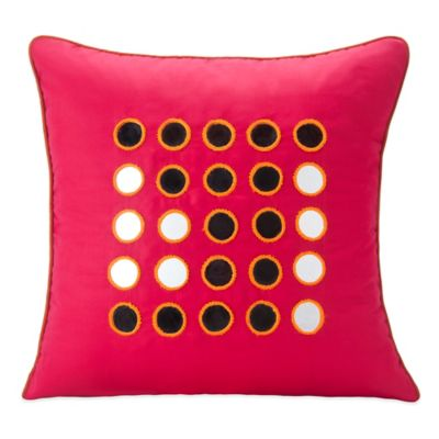 SPUN™ by Welspun Kanch Handcrafted Throw Pillow in Red