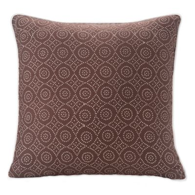 SPUN™ by Welspun Jaal Handcrafted Throw Pillow in Brown