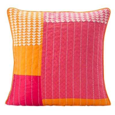 SPUN™ by Welspun Taanka Handcrafted Throw Pillow in Orange/Pink