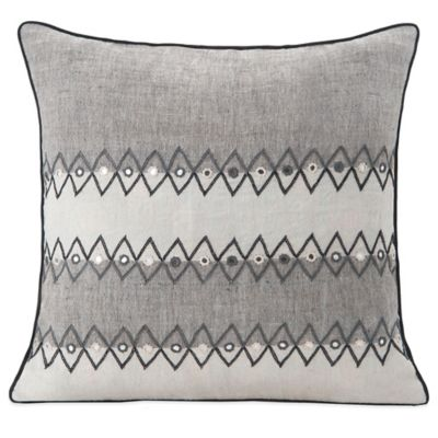 SPUN™ by Welspun Bhujori Handcrafted Throw Pillow in Grey/Natural