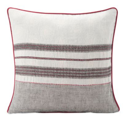 SPUN™ by Welspun Kutch Handcrafted Throw Pillow in Grey/Natural
