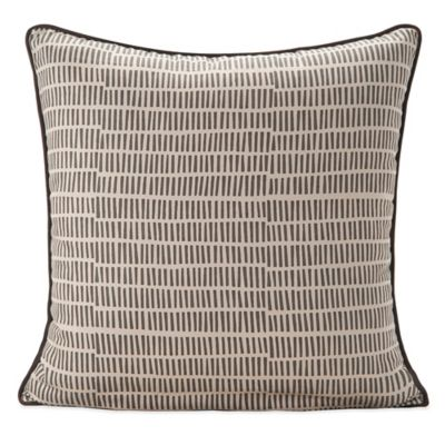 SPUN™ by Welspun Block Handcrafted Throw Pillow in Brown/Cream