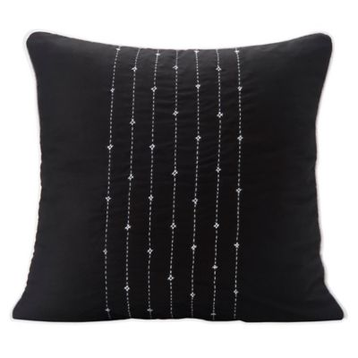 SPUN™ by Welspun Lehar Handmade Throw Pillow in Black