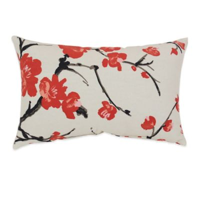 Flower Branch Oblong Throw Pillow