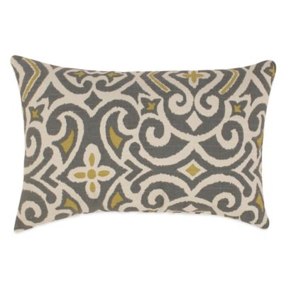 New Damask Oblong Throw Pillow Throw Pillows