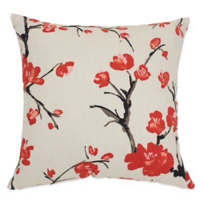 Cherry Blossom Throw Pillow Home Decor