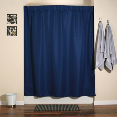 Modern White Shower Curtain