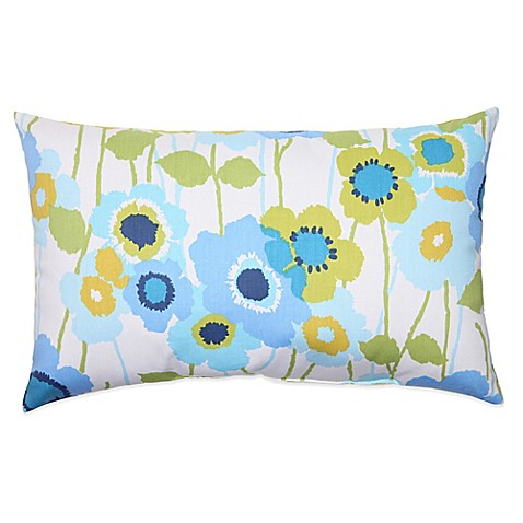 Buy Pic-A-Poppy Oblong Throw Pillow in Blue from Bed Bath & Beyond