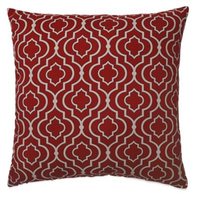 Donetta Floor Pillow in Red