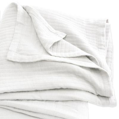 DKNY Haven Twin Blanket in White