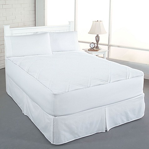 Buy Perfect Fit Clean Fresh Cotton Diamond King Mattress Pad From Bed Bath Beyond