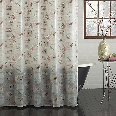 butterfly moments peva shower curtain bed bath beyond