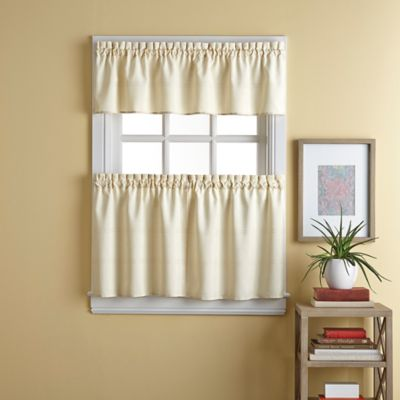 Wesley 36-Inch Window Curtain Tier Pair in Natural