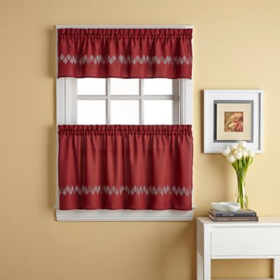 36-Inch Window Curtain Tier Pair in Spice
