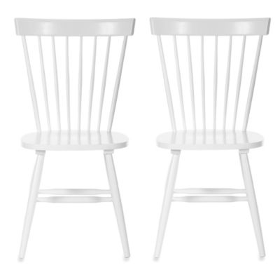 Safavieh Parker Spindle Side Chairs in White (Set of 2)