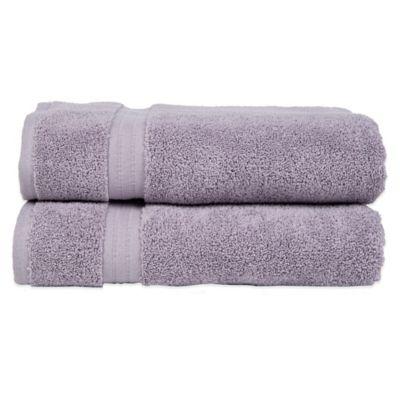 Zero Twist Hand Towel in Purple (Set of 2)