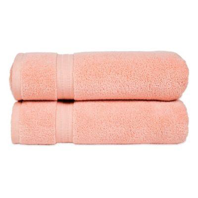 Zero Twist Hand Towel in Rose (Set of 2)