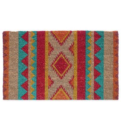 Nourison Aztec 18-inch x 30-inch Coir Door Mat