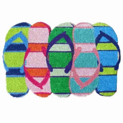 Flip Flop Shaped Door Mat in Multi