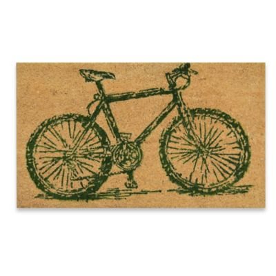 Vintage Bicycle 18-Inch x 30-Inch Coir Door Mat