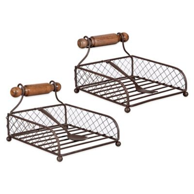 Home Essentials & Beyond Wire Utensil Napkin Holder (Set of 2)