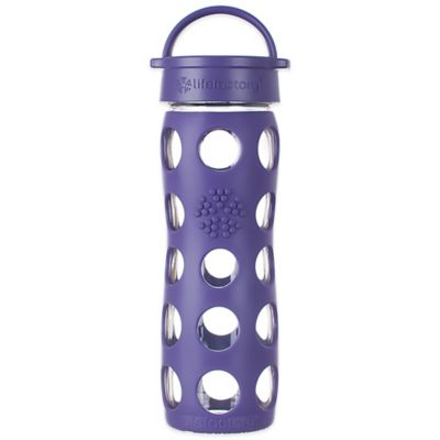 Lifefactory® 16 oz. Glass Bottle with Classic Cap in Berry