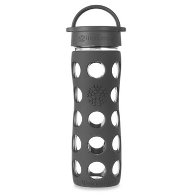 Lifefactory® 16 oz. Glass Water Bottle with Classic Cap in Charcoal