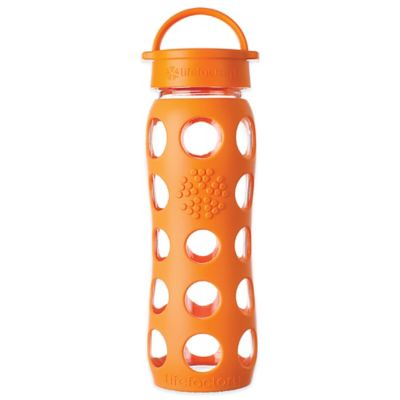 Lifefactory® 22 oz. Glass Water Bottle with Classic Cap in Orange