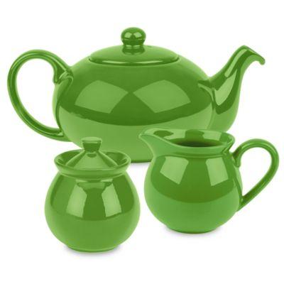Waechtersbach Fun Factory 3-Piece Tea Set in Green Apple