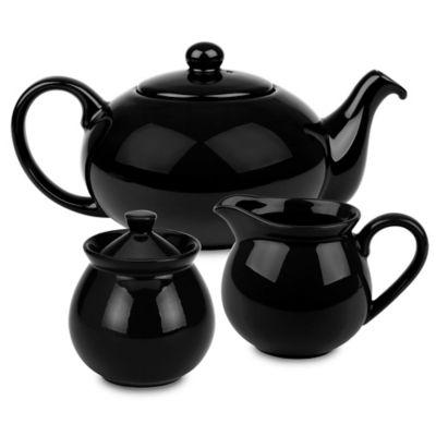 Waechtersbach Fun Factory 3-Piece Tea Set in Black