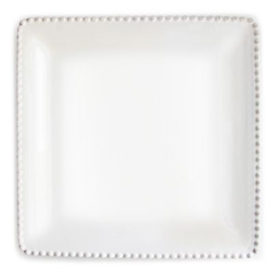 American Atelier Bianca Bead Square Platter