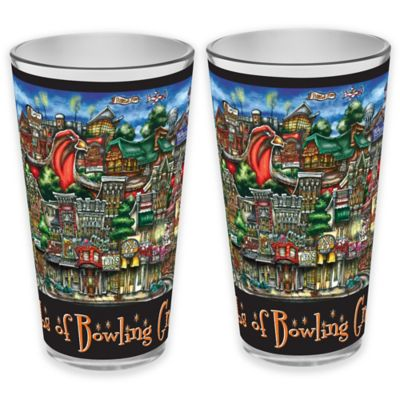 pubsOf. Bowling Green, Ohio Pint Glasses (Set of 2)